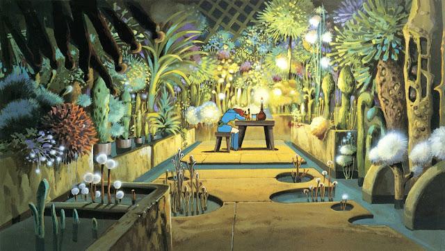 Fotograma de la película de animación de Studio Ghibli dirigida por Hayao Miyazaki, Nausicaä del Valle del Viento