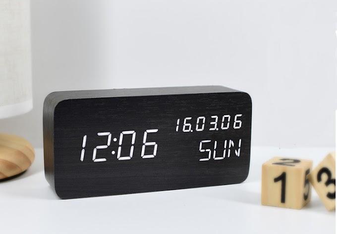 Đồng hồ báo thức led để bàn trang trí - Quà tặng