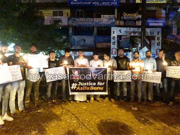Kerala, News, Kasargod, Kathua incident; protest conducted.