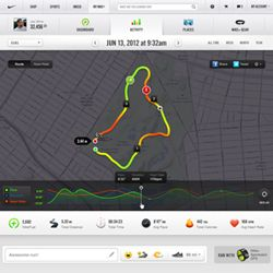 Nike Plus GPS Sport Watch maps