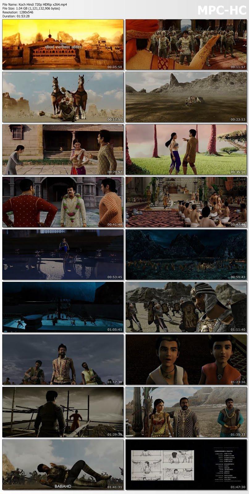 Kochadaiiyaan (2014) Hindi 350MB HDRip 480p