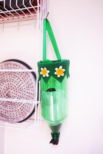 DIY Membuat Plastic Bag Dispenser Dan Cara Melipat Kresek Seperti Tissue