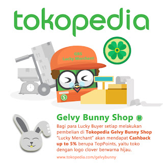 tokopedia gelvy bunny shop lucky merchant
