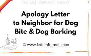 how to apologize to neighbor for barking dog