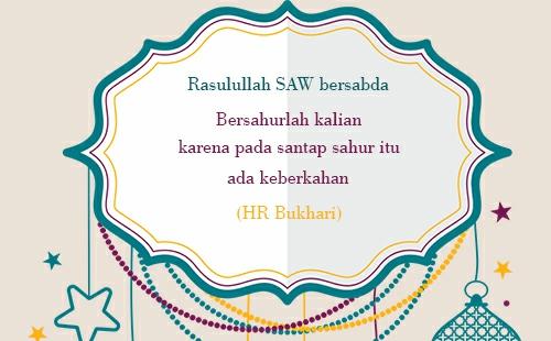 Ucapan Sahur
