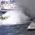 Mota de água apaga incendio em barco, na marina de Angra do Heroísmo