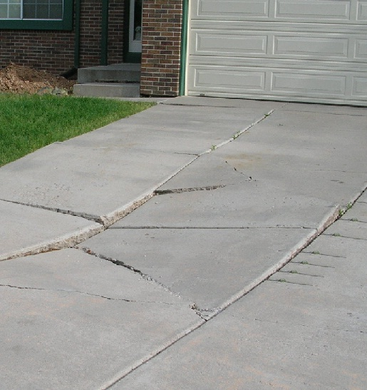 A Settled driveway-required to be mudjacked