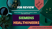 My Job Review | Technical Writing | Siemens Healthineers