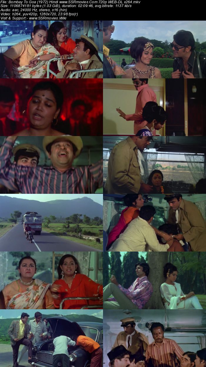 Bombay To Goa (1972) Hindi 720p WEB-DL x264 1GB Movie Download