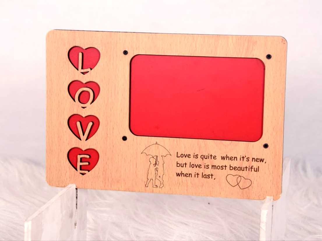 Love Wooden Frame With Photo