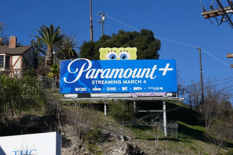 SpongeBob Paramount+ extension billboard