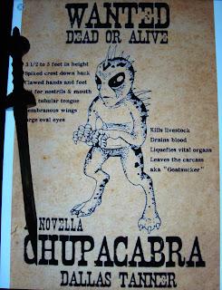 Portada del libro Chupacabra. A Novella, de Dallas Tanner