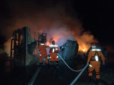 Duas pessoas morrem carbonizadas após colisão em Itapecuru-Mirim