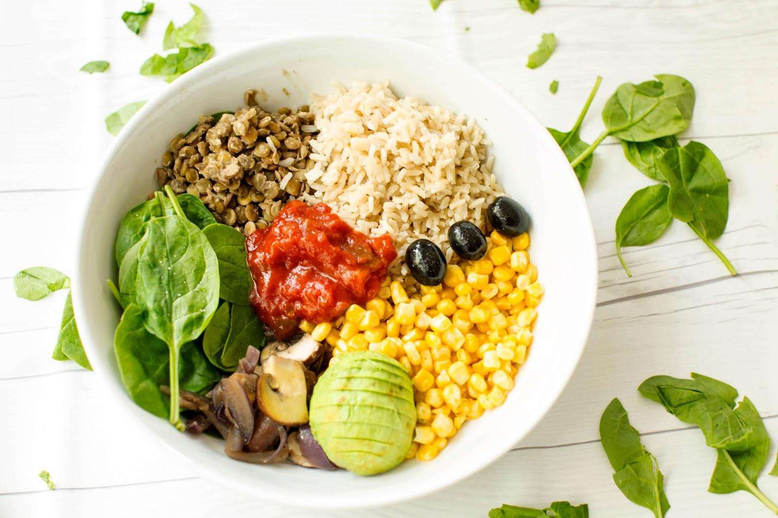 Healthy Vegan Taco Bowl