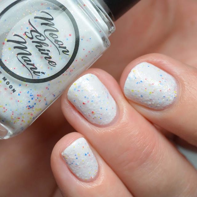 white textured nail polish