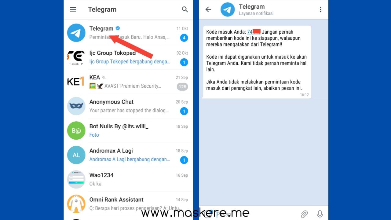 3 Cara Login Telegram Tanpa Kode Verifikasi Maskere