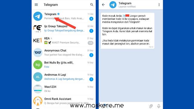 Cara login Telegram tanpa kode verifikasi dengan nomor yang sudah hangus
