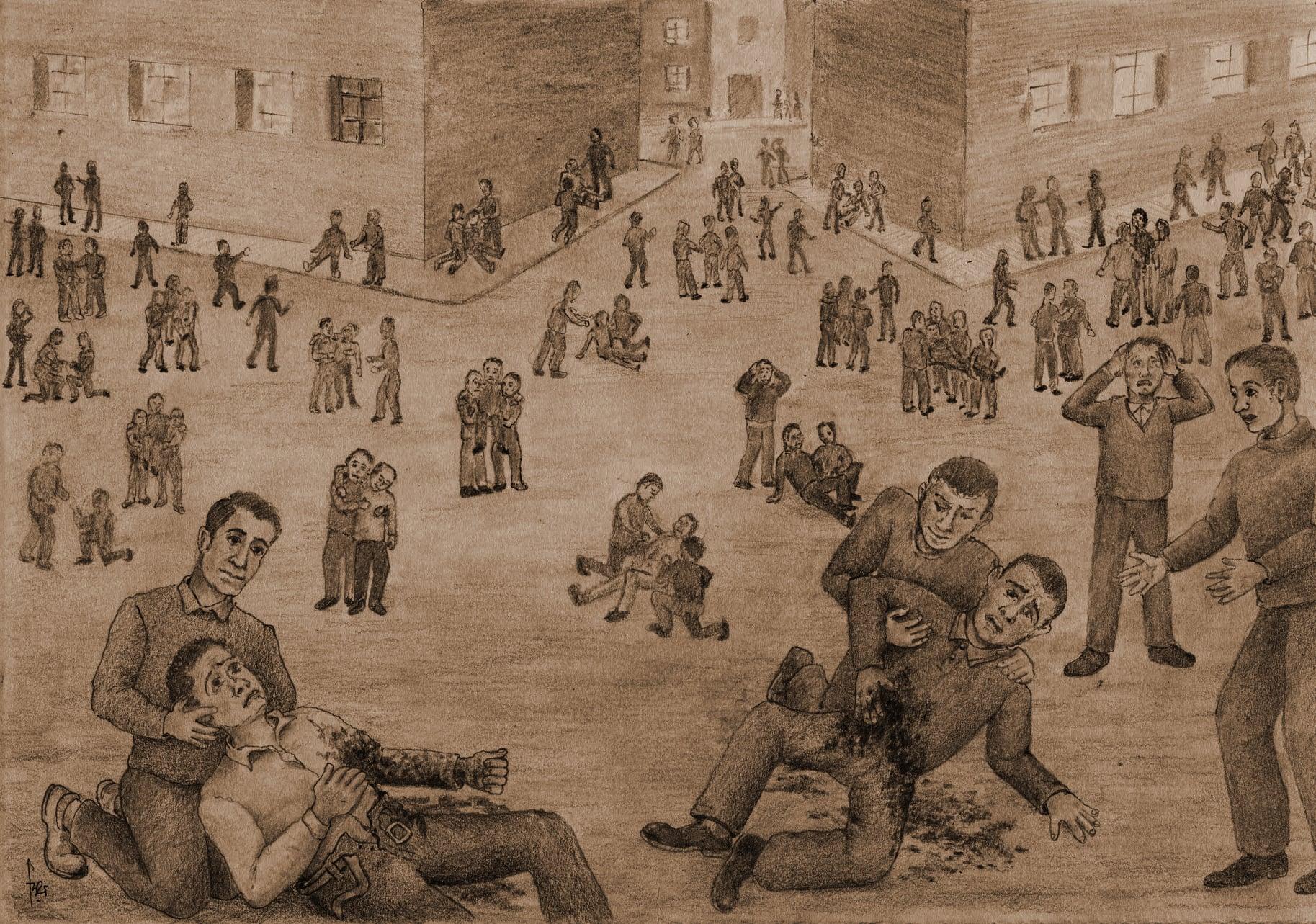 10 de Marzo de 1972: O crime foi en Ferrol, ... Por Rafael Pillado Lista - Debuxos de Fernando Ocampo