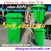 Thùng rác đạp chân 70 lít nhựa HDPE có bánh xe