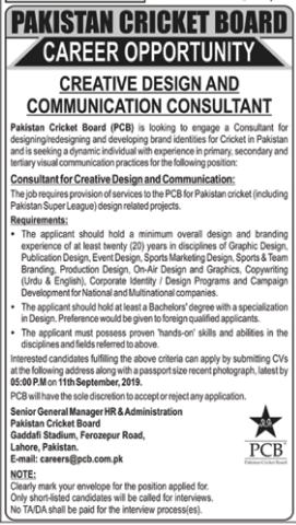 Advertisements for PCB Jobs In August 2019