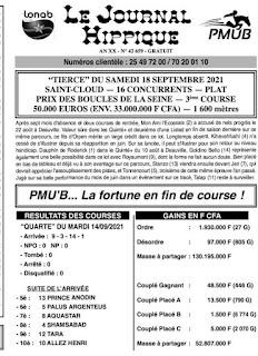 programme quinté Pronostic samedi 18/09/2021