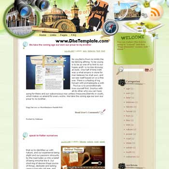 Heart Beating of Turkey blogger template from wordpress. blogger template for travel blog