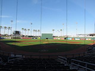 Home to center, Goodyear Ballpark