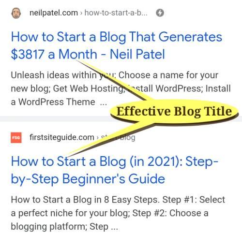 Effective Blog Post Title