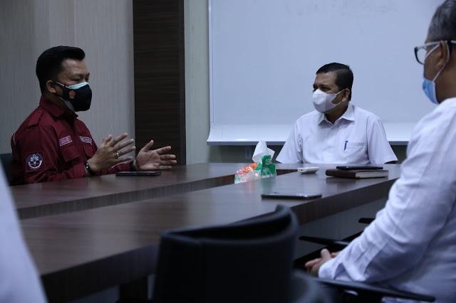 Kabid Humas Polda Aceh Audiensi Dengan Kadis Kominfo Aceh