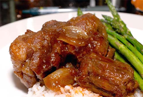 Cook oxtails slow and low.