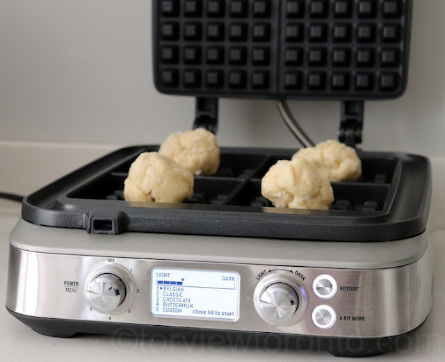 Breville waffle maker liège waffles