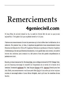 exemple de remerciement mémoire word et pdf