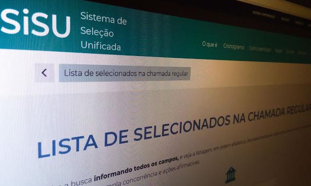 Ministério da Educação divulga resultado do Sisu 2021