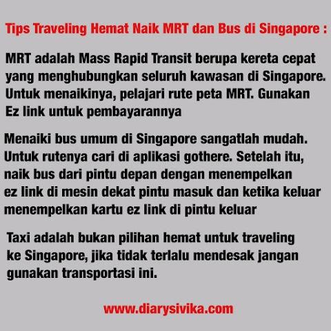 Traveling Hemat Ke Singapore, Sehari $20