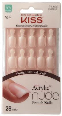 KISS Salon Acrylic Nude French Nails