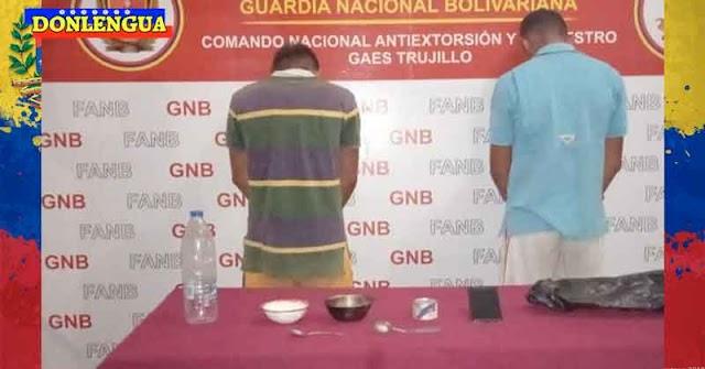 GNB detiene a dos peligrosos delincuentes que portaban dos cucharas y una lata de sardinas
