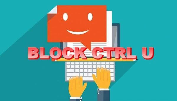 Mematikan Fungsi CTRL U CTRL Apa Saja Pada Postingan Konten Artikel Tulisan Blog dan Website