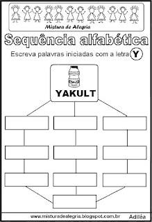 Sequência alfabética letra Y