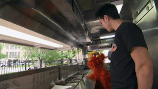 Sesame Street Episode 4310 Afraid of the Bark season 43, Murray learns about the food Eddie, The People in Your Neighborhood
