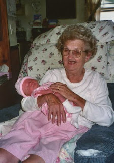 Great grandma meets her great grandchild