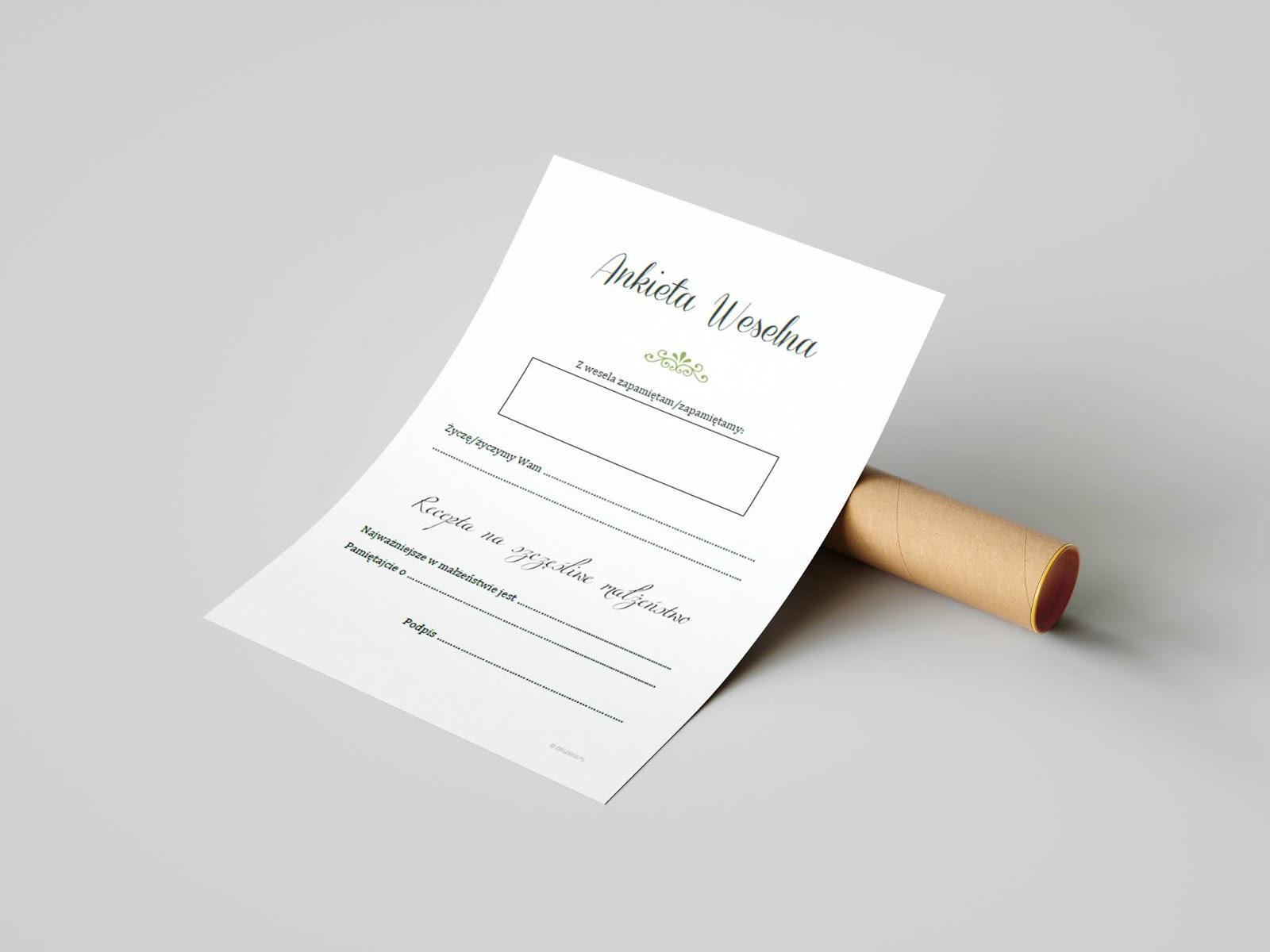 ankieta weselna do księgi gości do pobrania delishe blog
