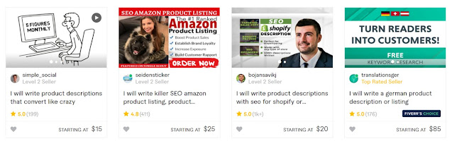 best product description fiverr gigs