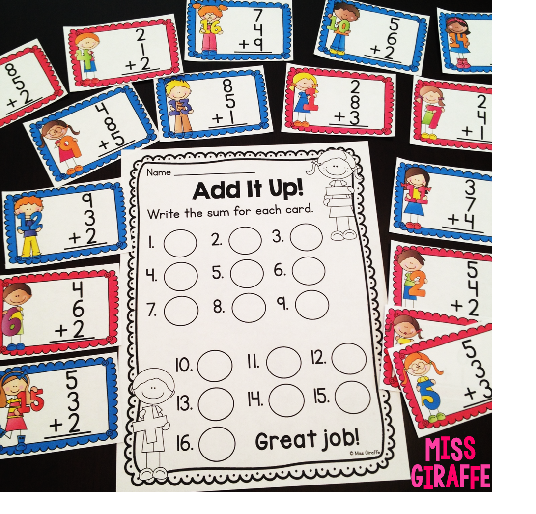 Adding 3 numbers math centers and activities that are so much fun for adding 3 numbers