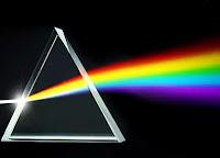 Bir ışık ışınının prizmadan geçip renk tayfı oluşturması