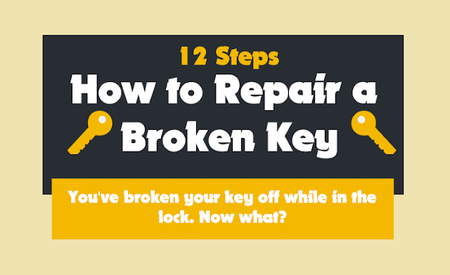 12-Steps-How-To-Repair-A-Broken-Key #Infographic