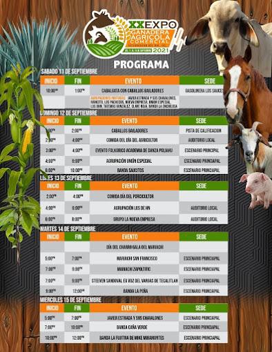 programa expo ganadera ixtlahuacán 2021