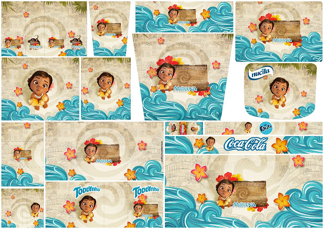 Moana Baby: Free Printable Candy Bar Labels.
