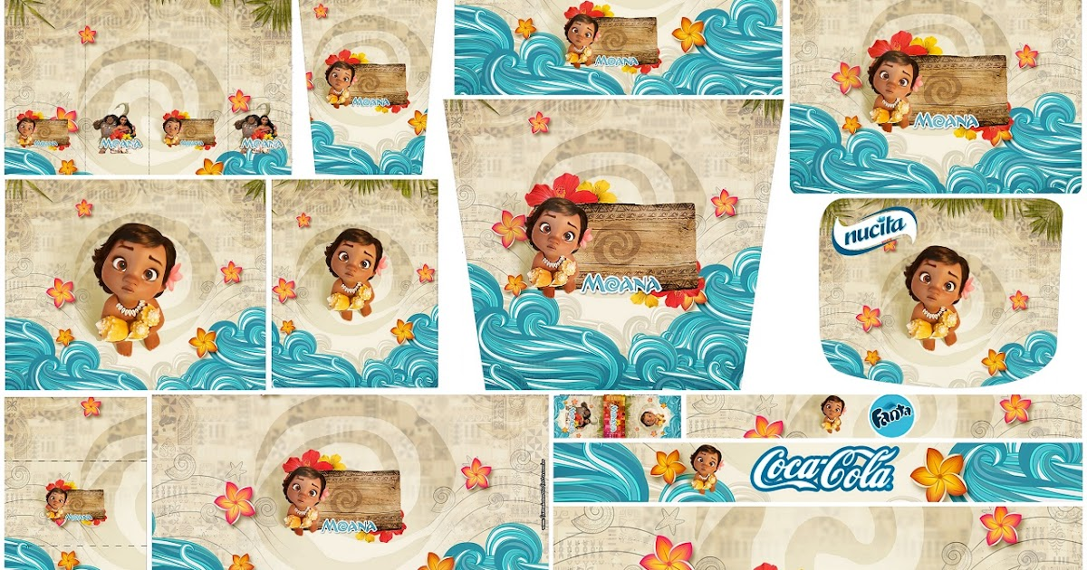 Moana Baby Free Printable Candy Bar Labels Oh My Baby