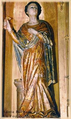 Santa Bárbara de la iglesia de la Foz de Morcín