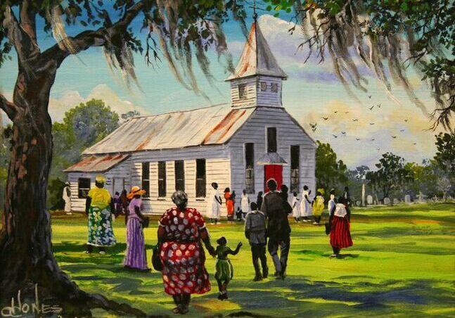 Asistiendo a la iglesia
